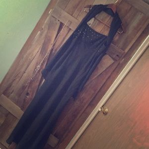 Long special occasion black dress